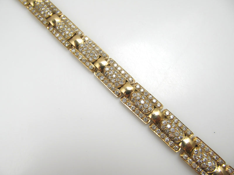 14k Yellow Gold Bracelet With 5.00cts In Diamonds, Si2-i1, H-i