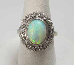 vintage opal diamond ring, victorious cape may