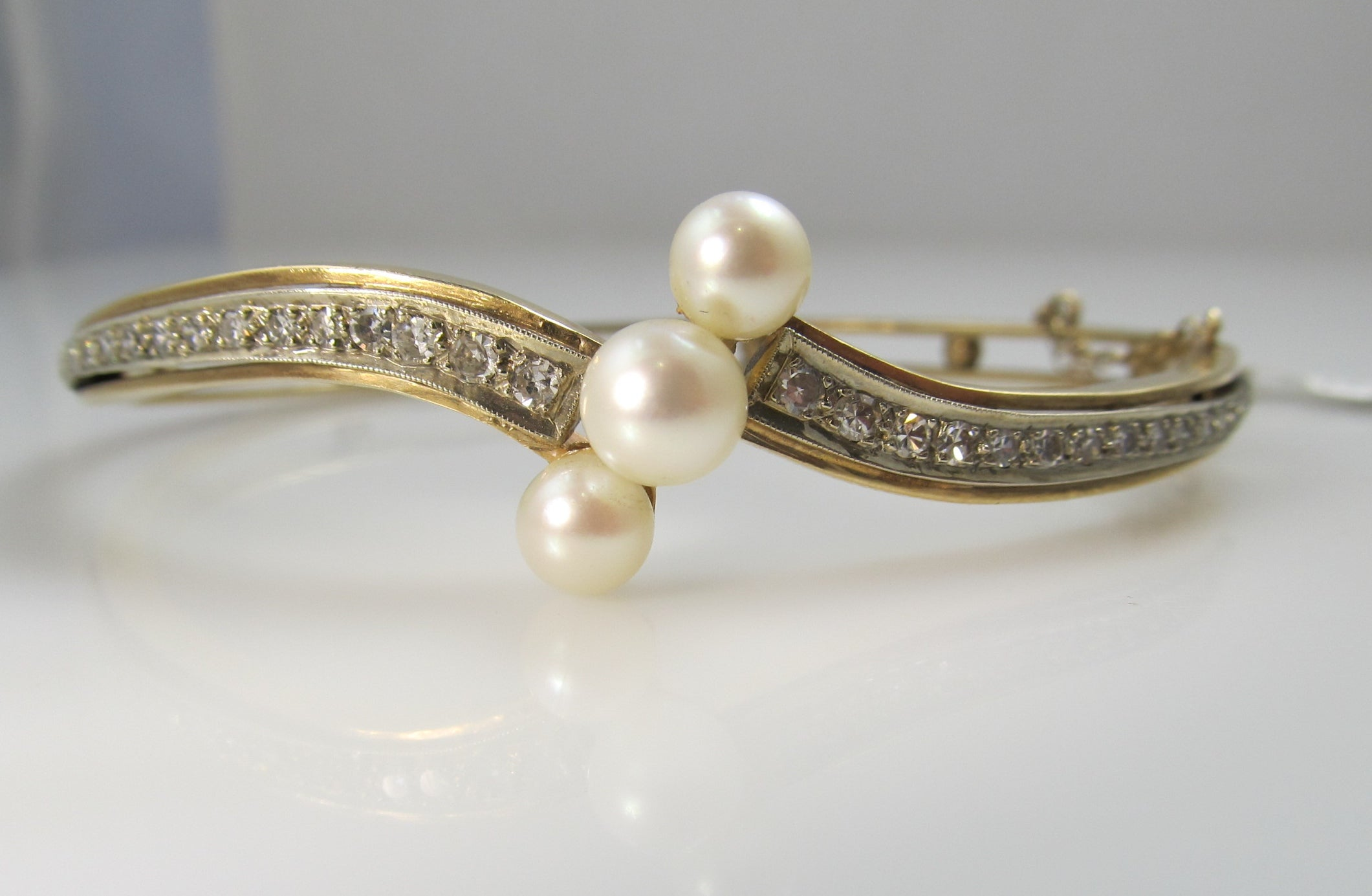 gold diamond boca bangle round raton bangles white product bracelet