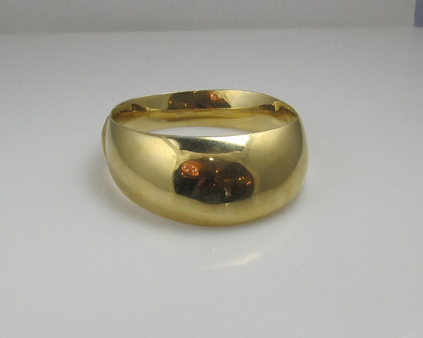 Vintage Modernist 14k Yellow Gold Bangle Bracelet