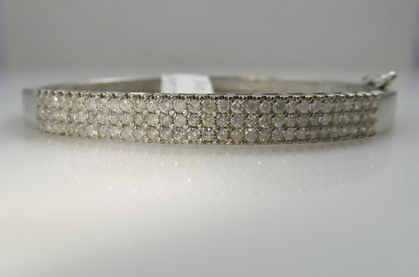 Estate diamond bangle bracelet, Victorious, Cape May
