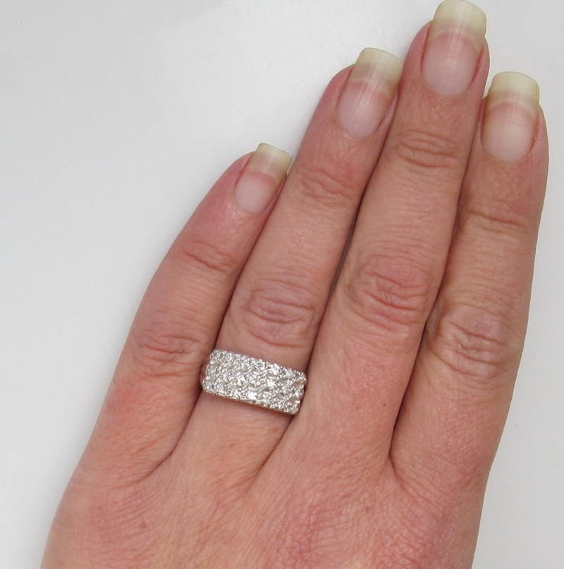 Vintage 14k white gold band with .50cts in diamonds