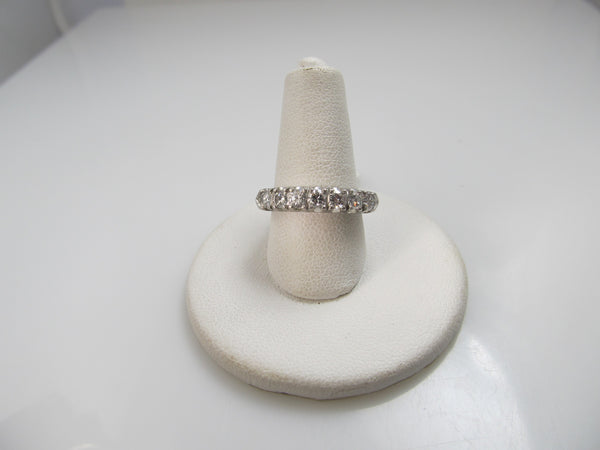 Vintage platinum band with .70cts in diamonds