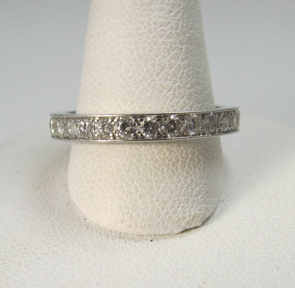 1.30ct diamond platinum eternity band