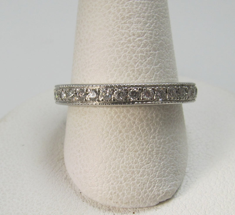 1ct total weight diamond eternity band in platinum