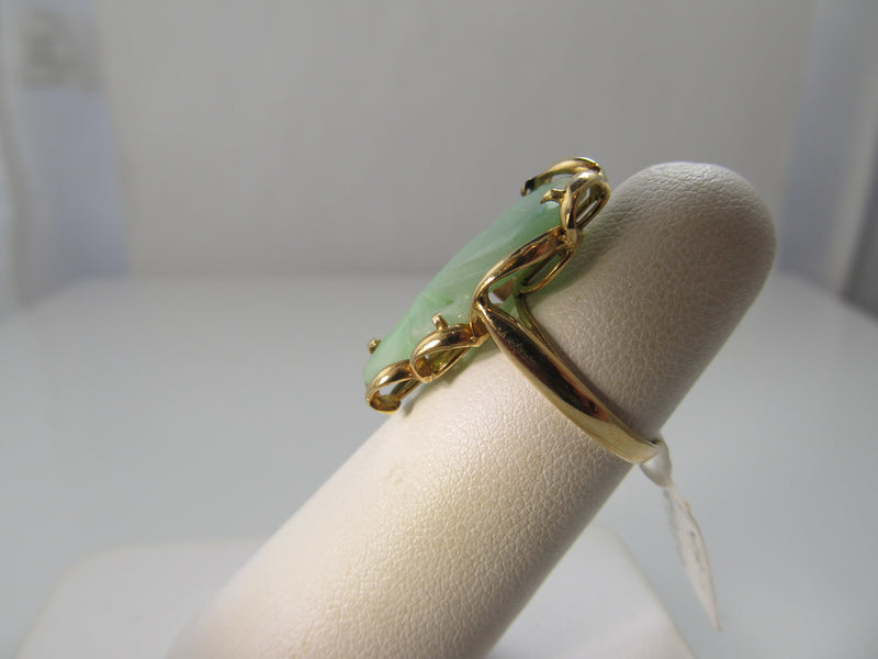 Neat carved jade fish ring