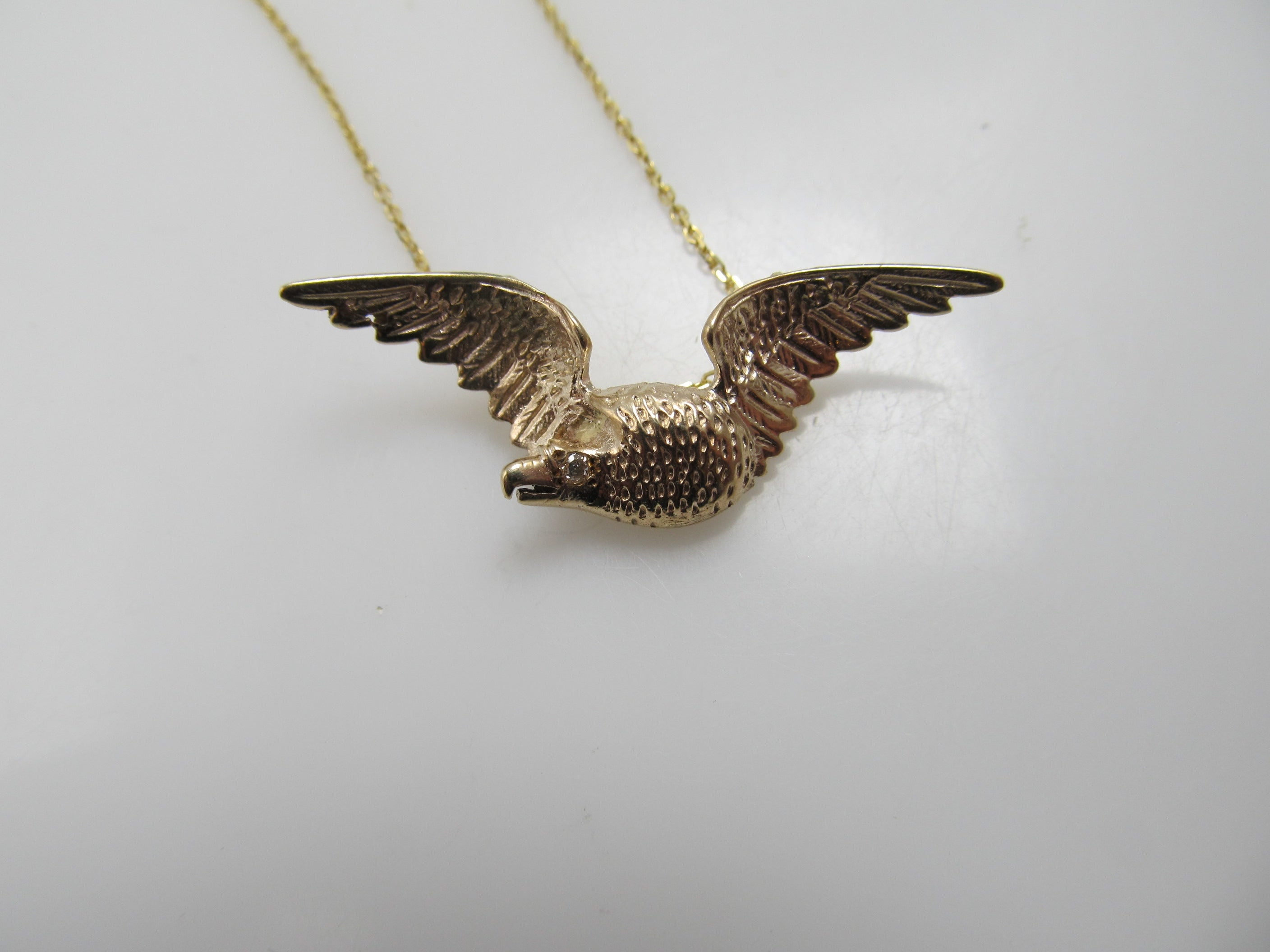 pendant eagle yellow gold sapphire product diamond