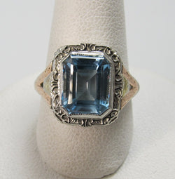 art deco aquamarine ring, victorious cape may