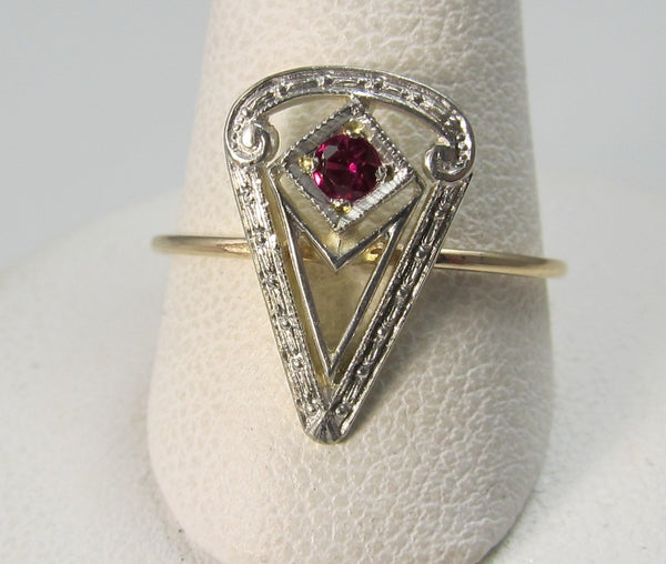 Vintage conversion ring, antique jewelry, Victorious Cape May