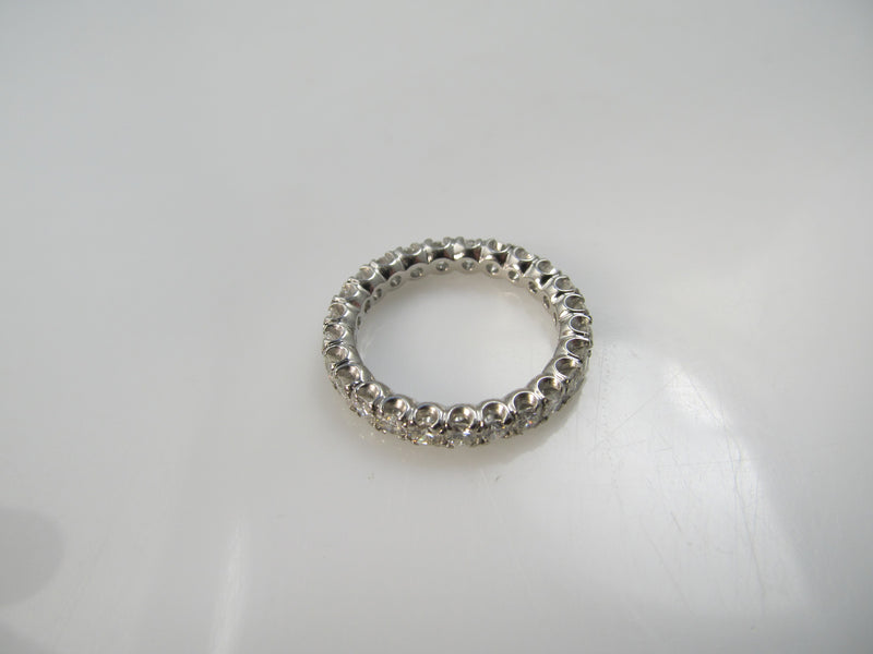 Platinum eternity band with 1.30cts in diamonds