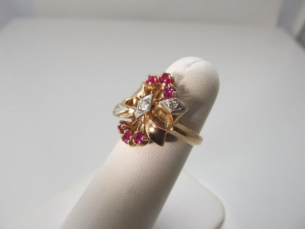 Vintage retro rose gold cocktail ring