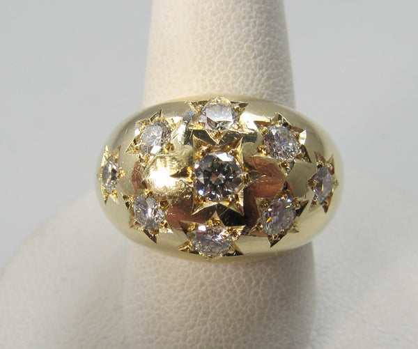 Vintage diamond dome ring, star set, Victorious, Cape May