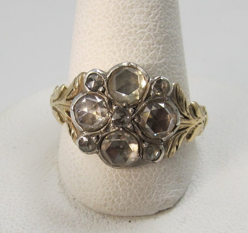 georgian rose cut diamond ring, victorious cape may