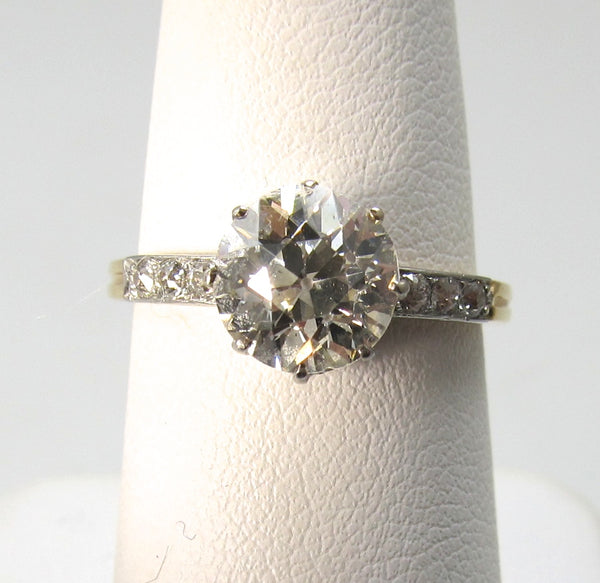 Antique 1.94ct old cut diamond engagement ring