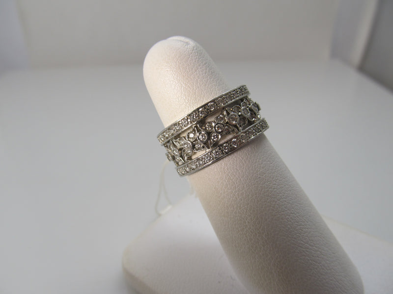Platinum 2ct diamond wide eternity band