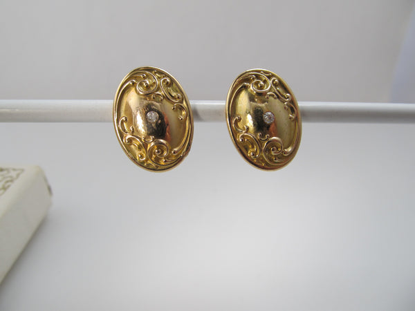 Art Nouveau cufflink earrings
