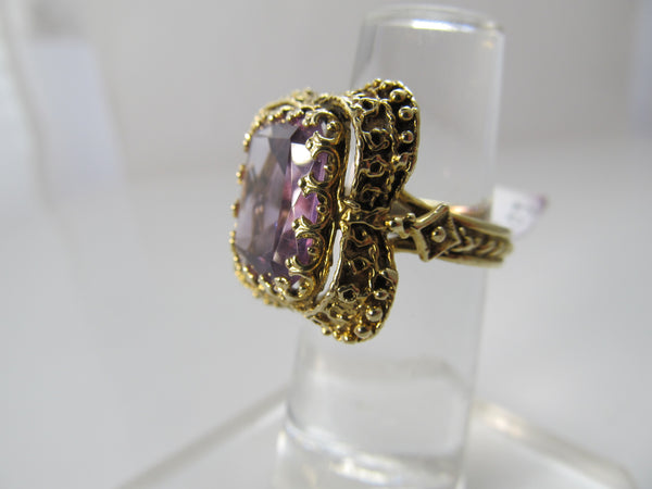 Vintage 5.00ct amethyst ring