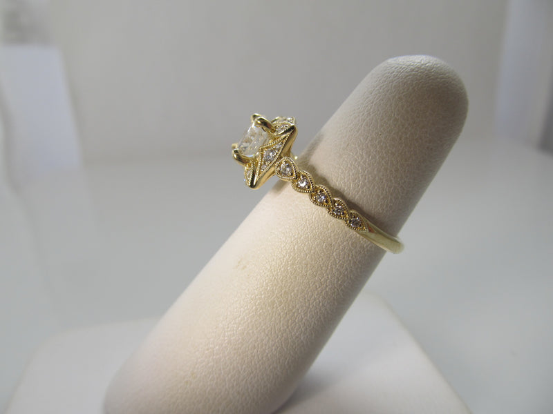 Gabriel & Co yellow gold diamond engagement ring