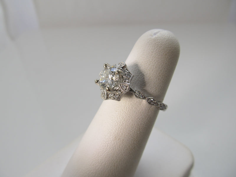 Gabriel & Co 1.03ct diamond ring