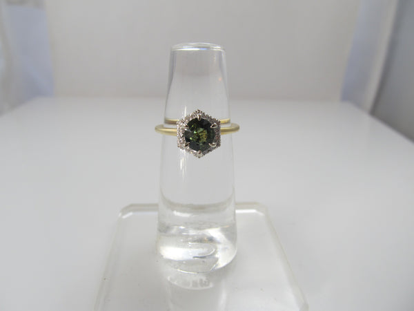 Gabriel & Co green blue sapphire ring