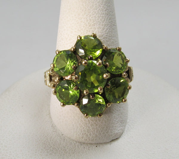 Vintage peridot cluster ring, Antique jewelry, Victorious Cape May