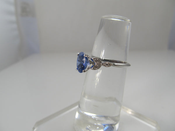 Gabriel & Co tanzanite diamond ring