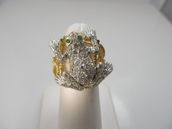 1.25ct diamond frog ring