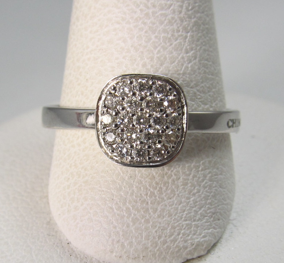 Chimento 18k white gold pave diamond ring