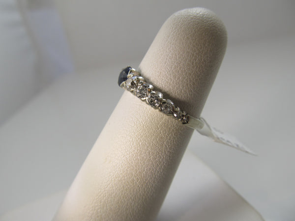 Vintage sapphire and diamond band