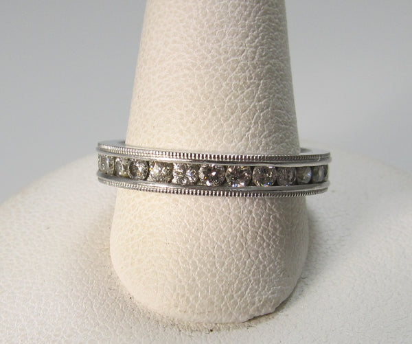 Platinum eternity band with 1.00cts in diamonds