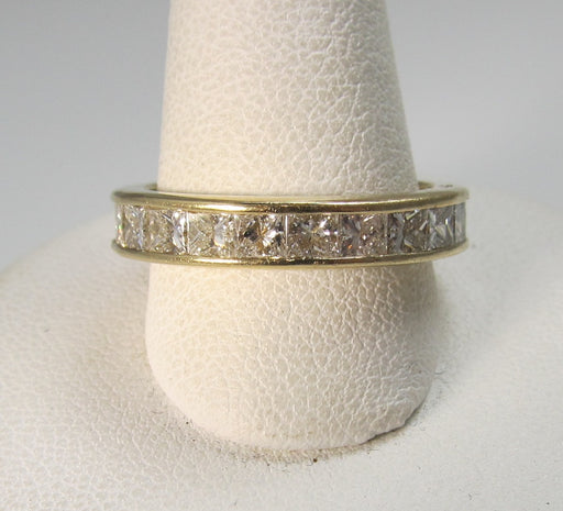 14k yellow gold 3.00ct princess cut diamond eternity band