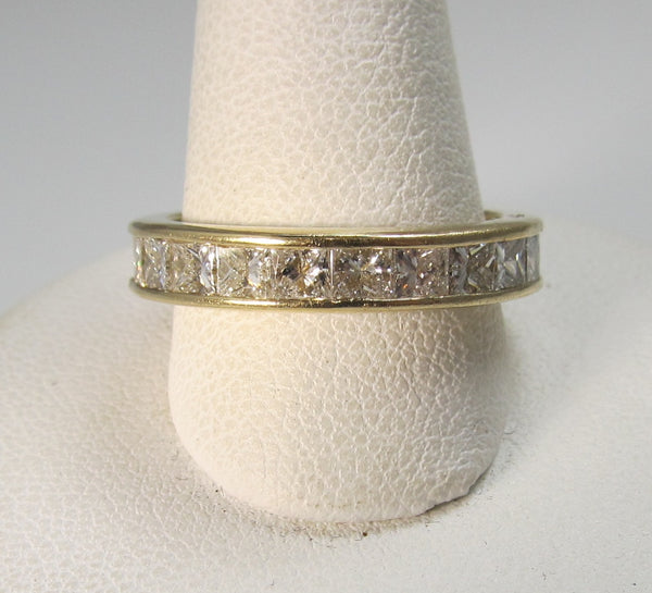 princess cut eternity band, victorious cape may