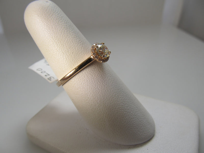 .50ct rose gold halo engagement ring
