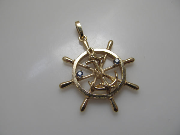 Ships wheel anchor pendant