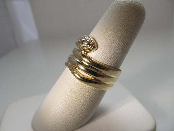 Vintage coiled snake ring