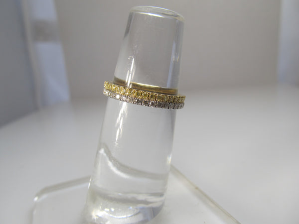 2ct yellow and white diamond eternity band