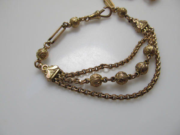 Antique watch fob bracelet