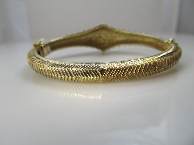 Vintage enamel bangle bracelet