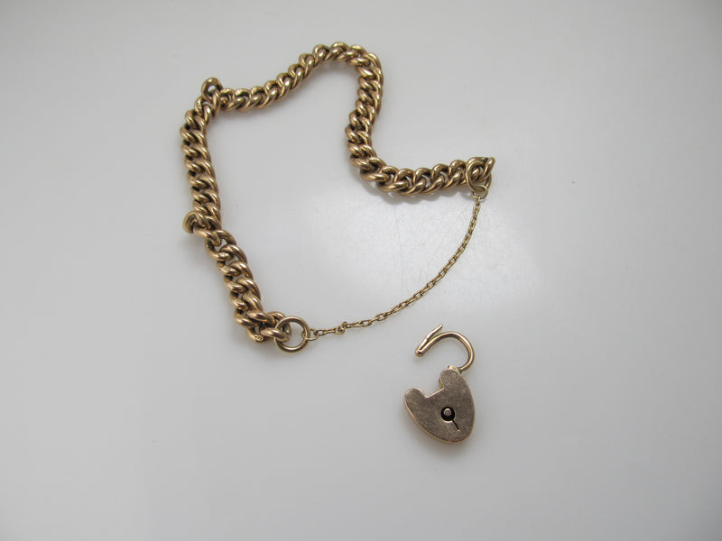 9kt rose gold heart bracelet