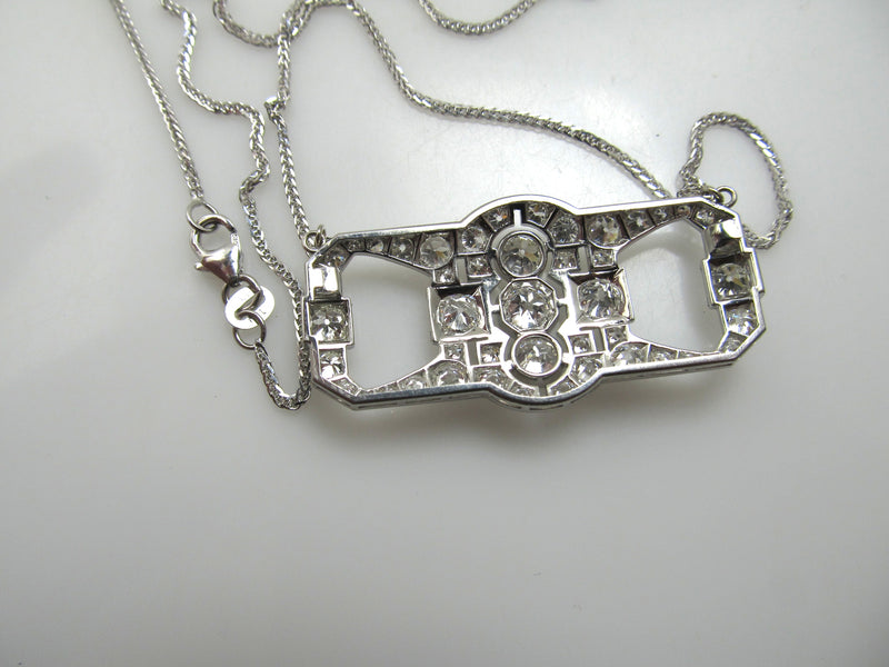 Art Deco 4.20ct platinum diamond necklace, circa 1920