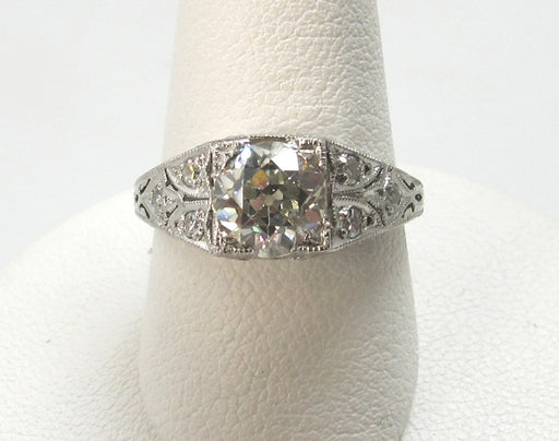 Vintage platinum diamond engagement ring, victorious cape may