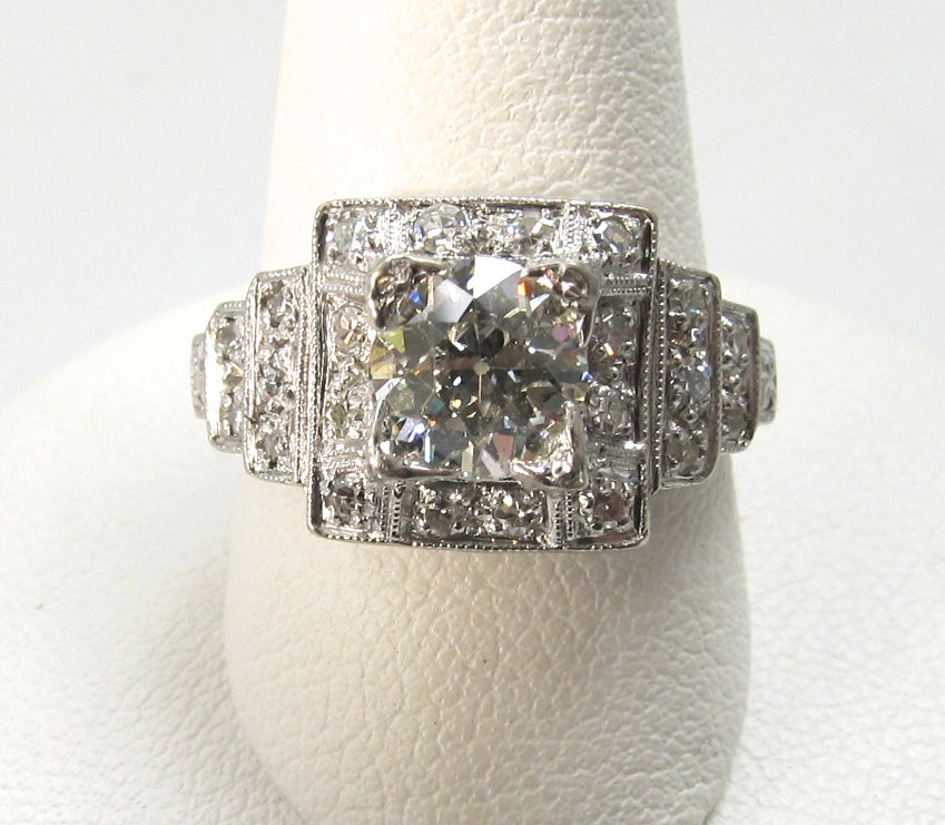 Art deco diamond engagement ring, victorious cape may
