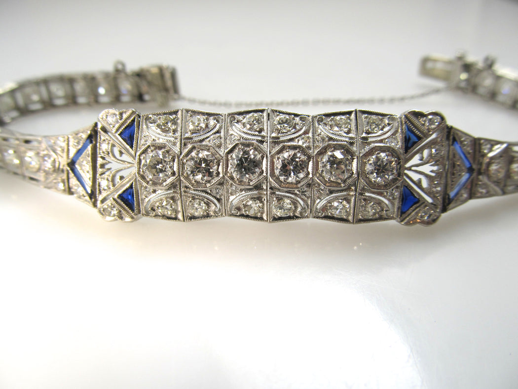 Antique platinum and diamond bracelet, Victorious Cape may