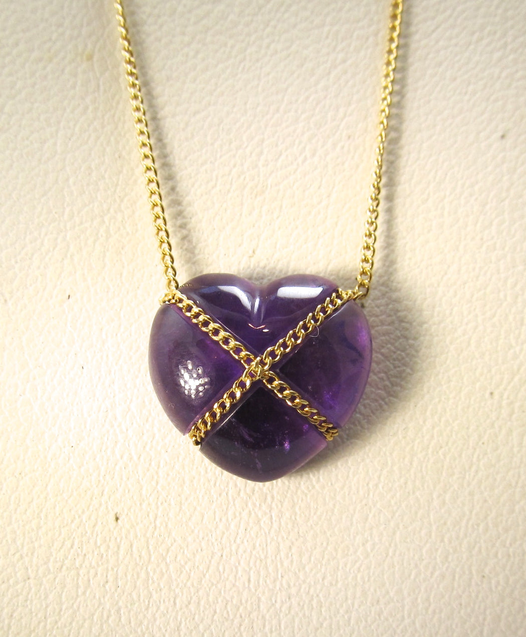 Tiffany & Co wrapped purple heart necklace, amethyst, Victorious Cape May