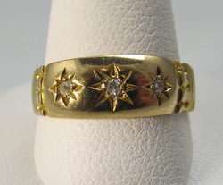 Vintage star set diamond ring, Victorious Cape May