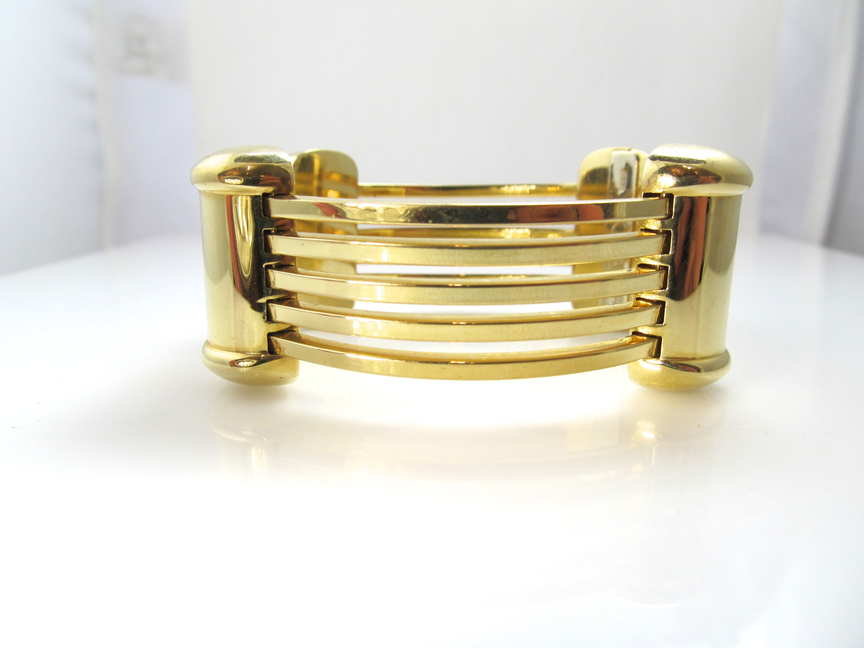 women gold sculptural yellow metal hammered metallic lyst glamazon bangle s jewelry bangles bracelet thin ippolita