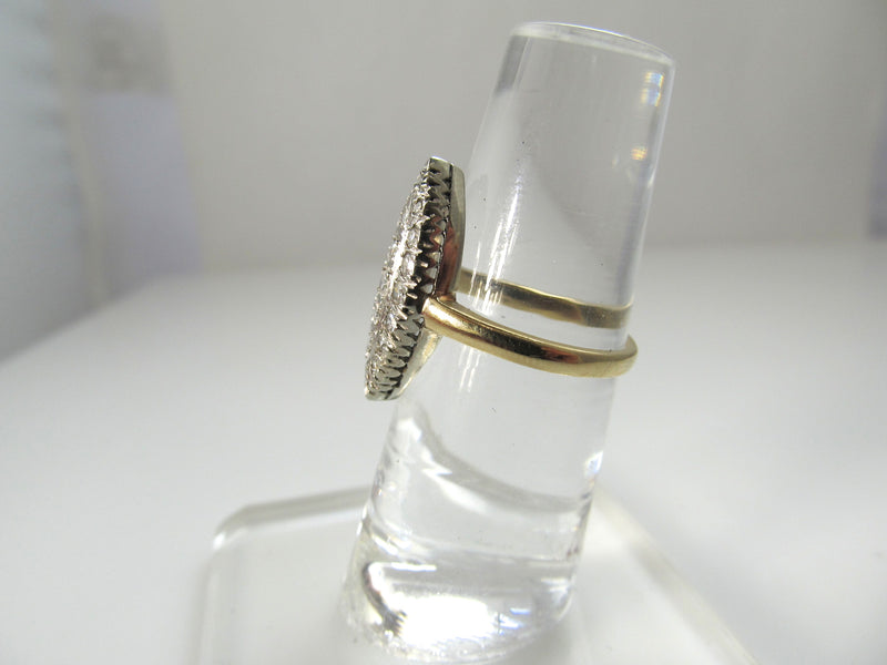 Vintage .50ct diamond cluster ring