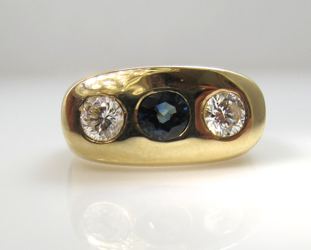 Sapphire diamond gypsy ring, Victorious Cape May