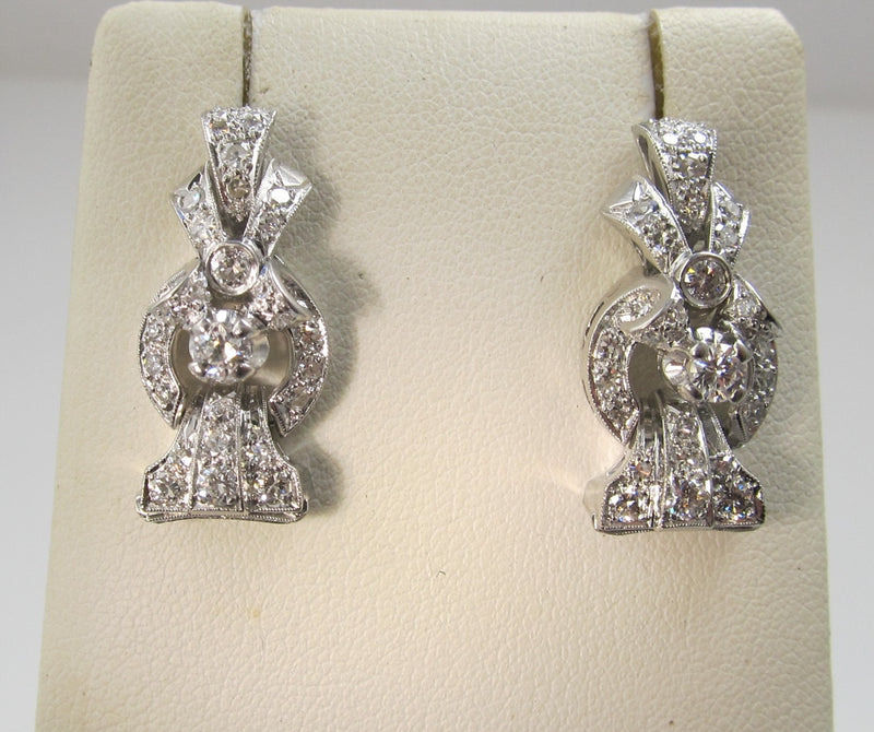 Vintage platinum diamond earrings, Victorious Cape May