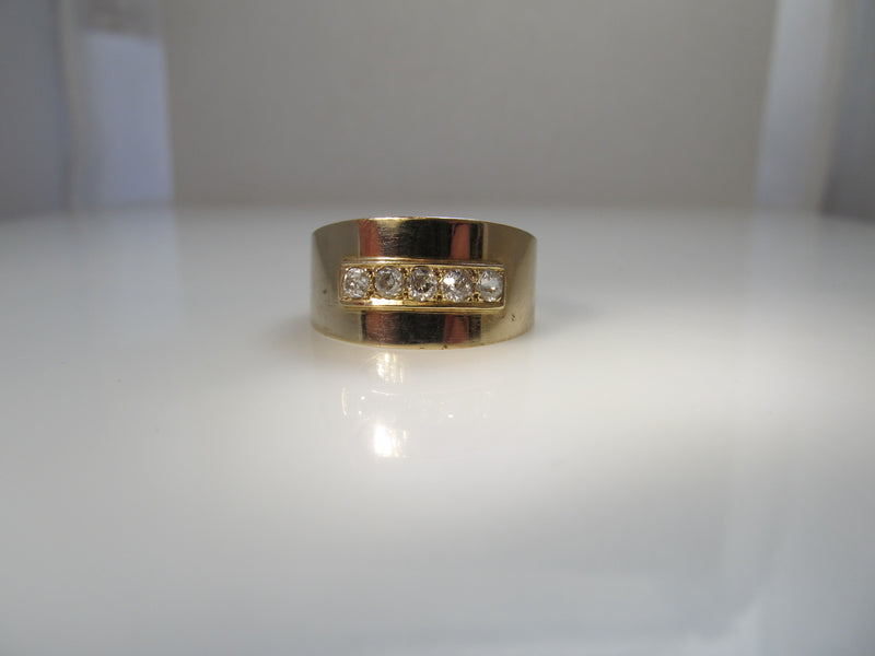 Vintage wide diamond cigar band